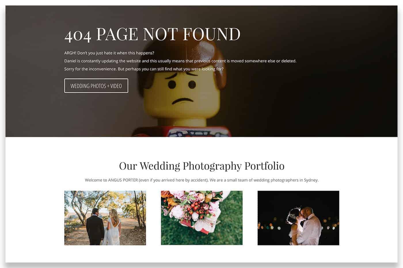 angusporter.com has a custom 404 error page that includes some internal links